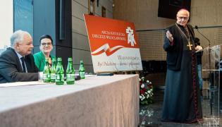 Jarosław Kaczyński i biskup włocławski ks. Wiesław Alojzy Mering