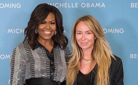 Michelle Obama i Joanna Przetakiewicz