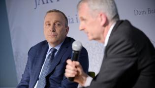 """Grzegorz Schetyna i Timothy Snyder podczas debaty """"Jak pokonać populizm?"""""""