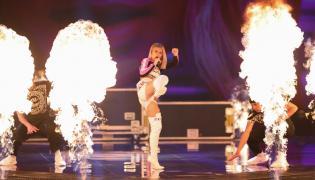 Reprezentantka Białorusi na scenie podczas konkursu Eurowizji