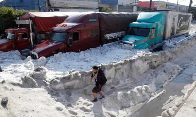 Gradobicie w Meksyku sparaliżowało miasto. ZOBACZ ZDJĘCIA