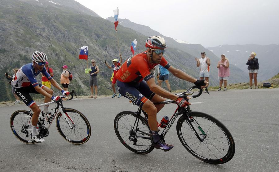 Vincenzo Nibali  na trasie Tour de France
