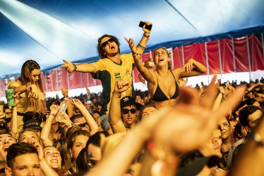 Publiczność na festiwalu Sziget 2019