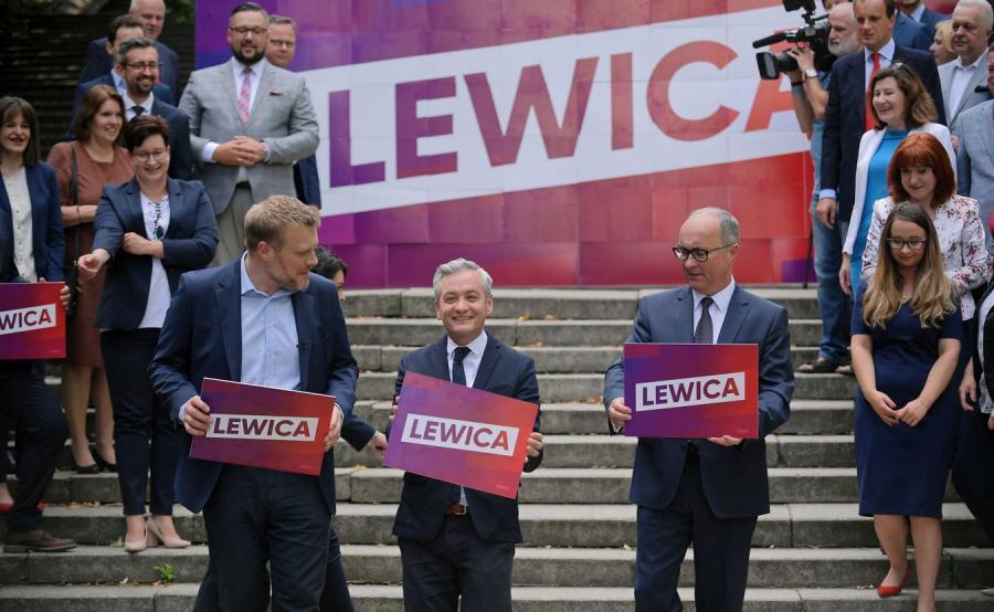 Prezentacja liderów list Lewicy do wyborów parlamentarnych