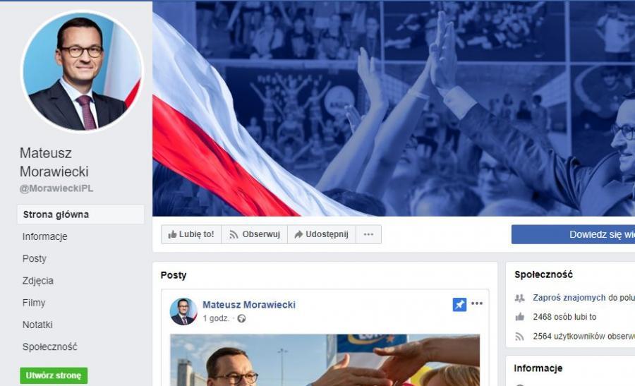 Konto Mateusz Morawieckiego na Facebooku