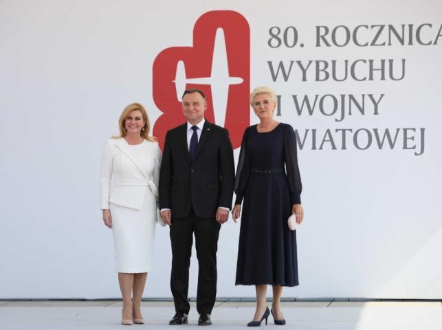 Andrzej Duda i Agata Kornhauser-Duda oraz Kolinda Grabar-Kitarovic