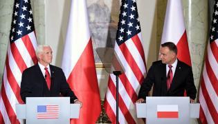Mike Pence z Andrzejem Dudą