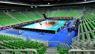 """Hala """"Arena Stožice"""", w której siatkarska reprezentacja Polski zmierzy się w półfinale mistrzostw Europy ze Słowenią"""