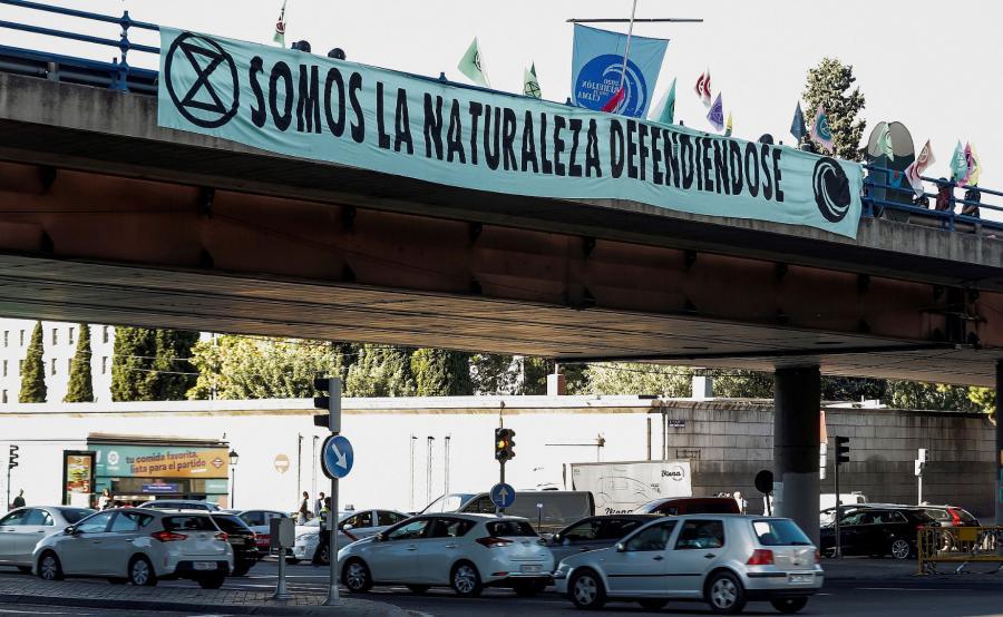 Extinction Rebellion w Madrycie
