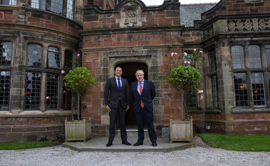 Leo Varadkar i Boris Johnson