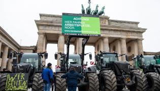 Protest rolników w Berlinie