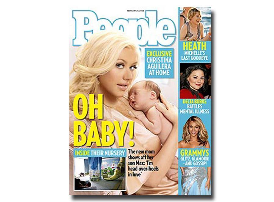 Aguilera sprzedała dziecko gazecie