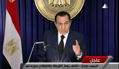 Prezydent Egiptu Hosni Mubarak