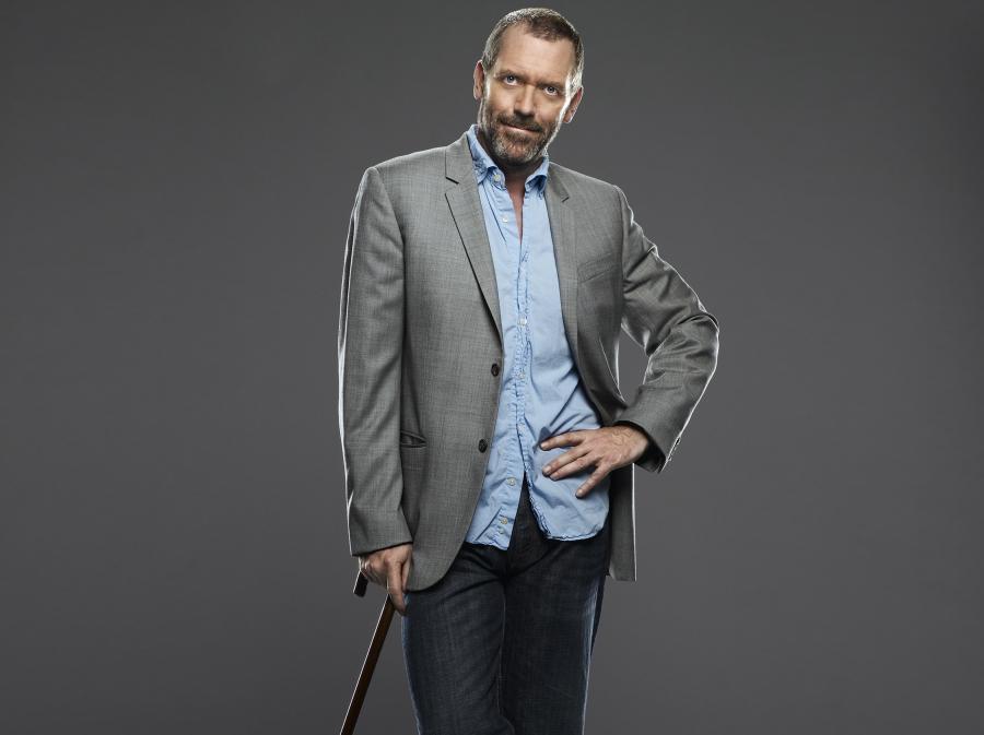 "Hugh Laurie jako ""Dr House"""