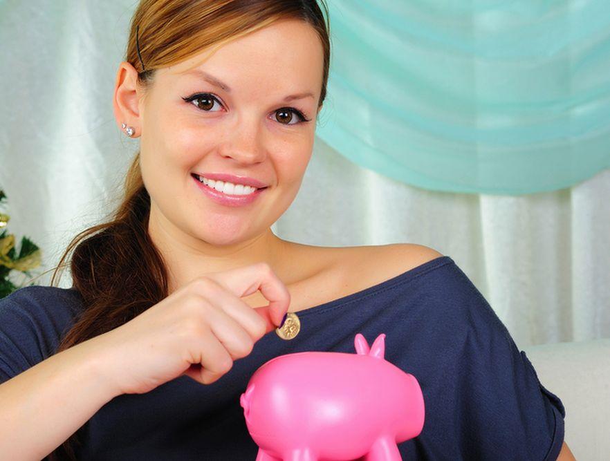 Kobieta i oszczędności