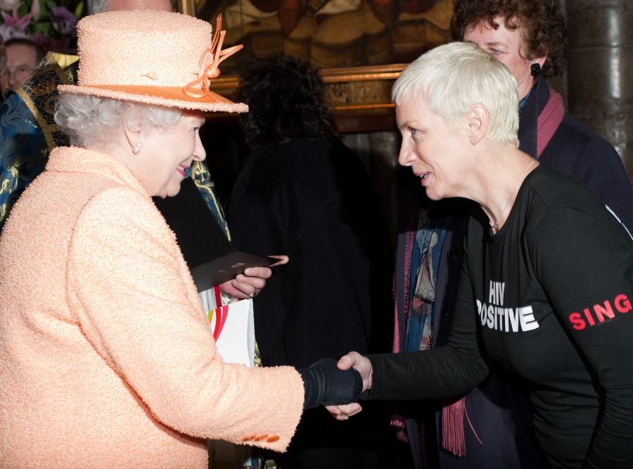 Annie Lennox i królowa Elżbieta II