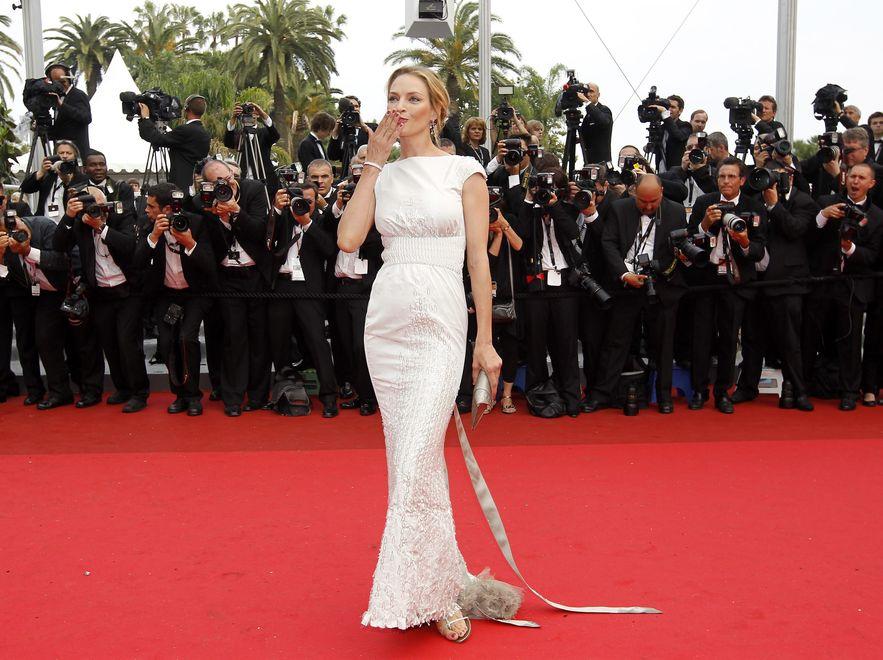 Uma Thurman i jej kreacje na 64. Festiwalu Filmowym w Cannes