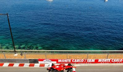 Fernando Alonso na torze w Monte Carlo