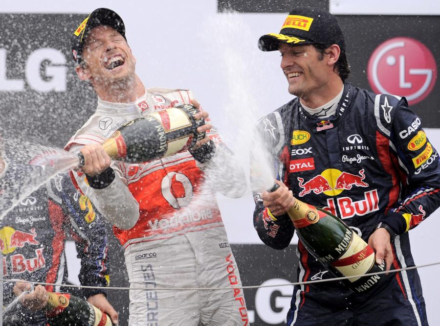 Jenson Button i Mark Webber