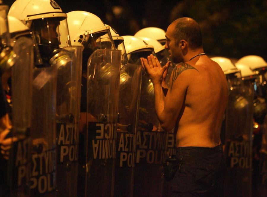 Demonstracja w Atenach