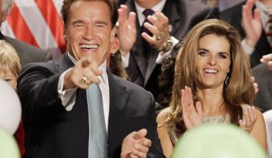 Arnold jeszcze z żoną