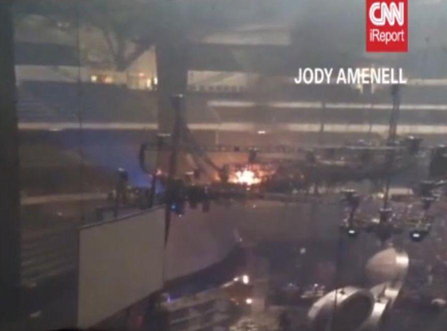 Pożar wybuchł na koncercie Rihanny