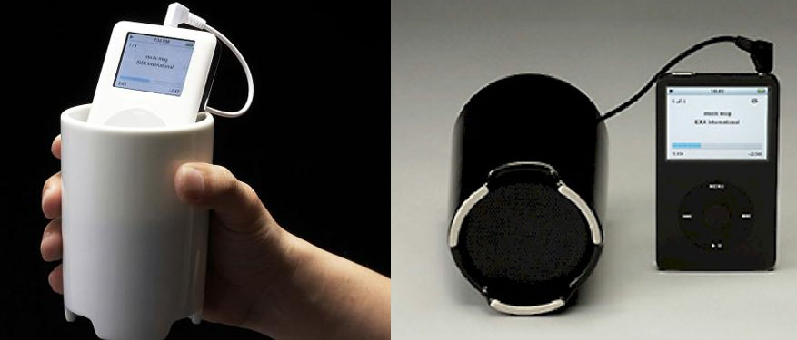 Muzyczny kubek na iPoda i nie tylko