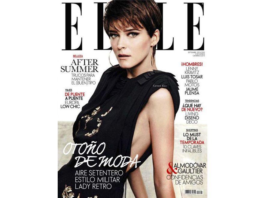 """Carmen Kaas na okładce """"Elle"""". Źródło: Elle"""