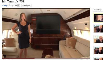Luksusowy samolot Donalda Trumpa
