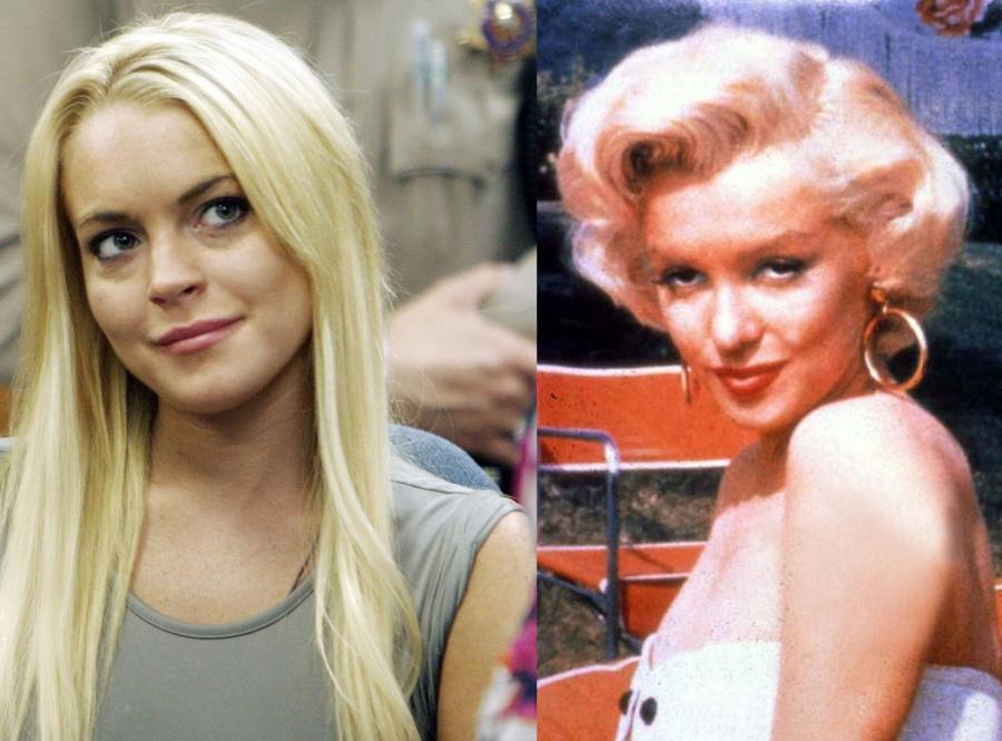 Lindsay Lohan i Marilyn Monroe