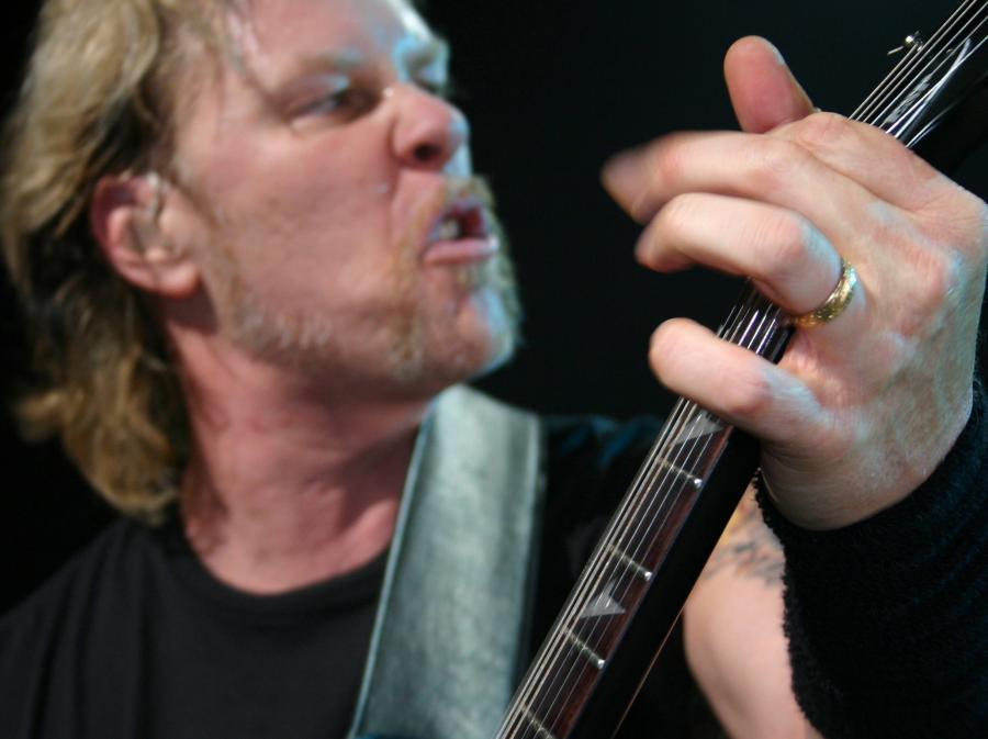 James Hetfield na scenie