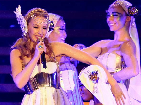 Kylie Minogue piękna jak bogini
