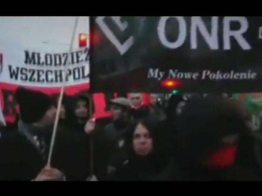 Zdjęcie z filmu promującego Marsz Niepodległości