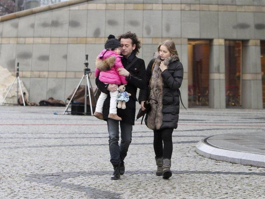 Państwo Rubikowie z córką
