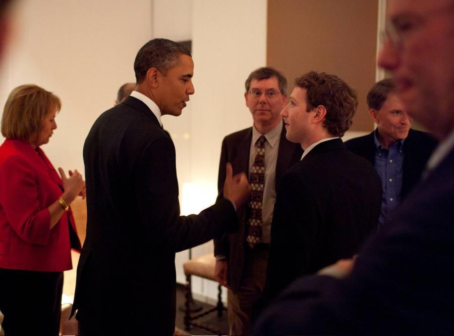 Marc Zuckerberg z Barackiem Obamą