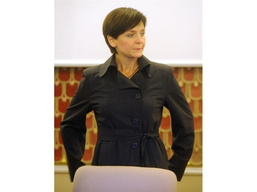 Joanna Mucha w nowej fryzurze.