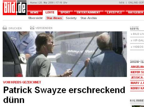 Patrick Swayze schudł po chemioterapii