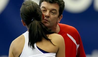 Agnieszka Radwańska i Robert Radwański