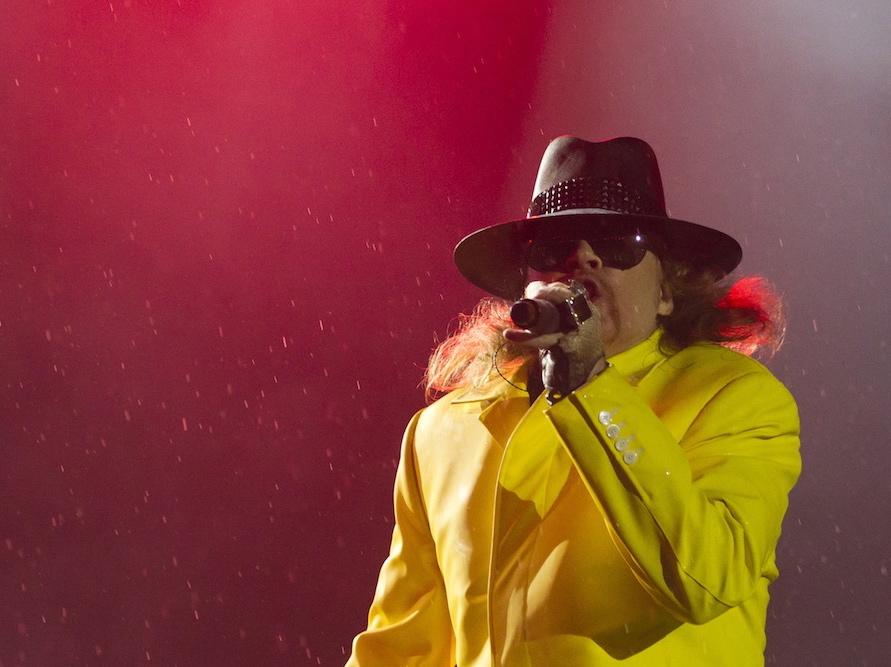 Axl Rose i Guns N'Roses na Rock in Rio