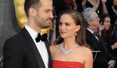 Natalie Portman i Benjamin Millepied na gali Oscarów