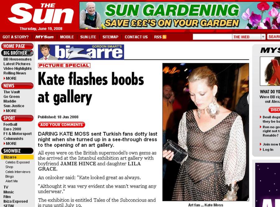 Goła wpadka Kate Moss w Stambule