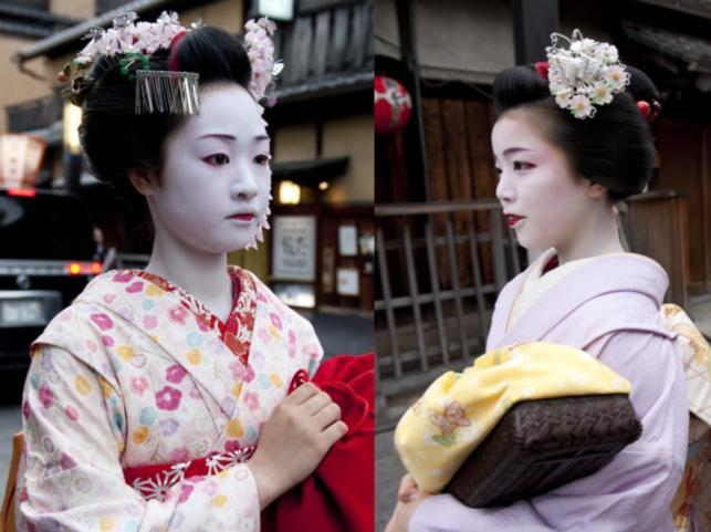 Gejsze w Kioto w Japonii