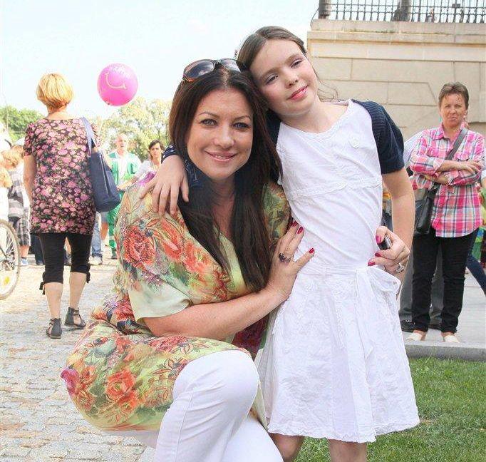 Alicja Węgorzewska z córką Amelią