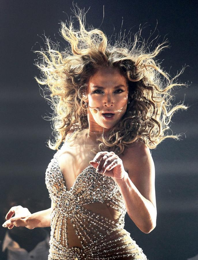 Jennifer Lopez podczas koncertu w Movistar Arena w Santiago (Chile)