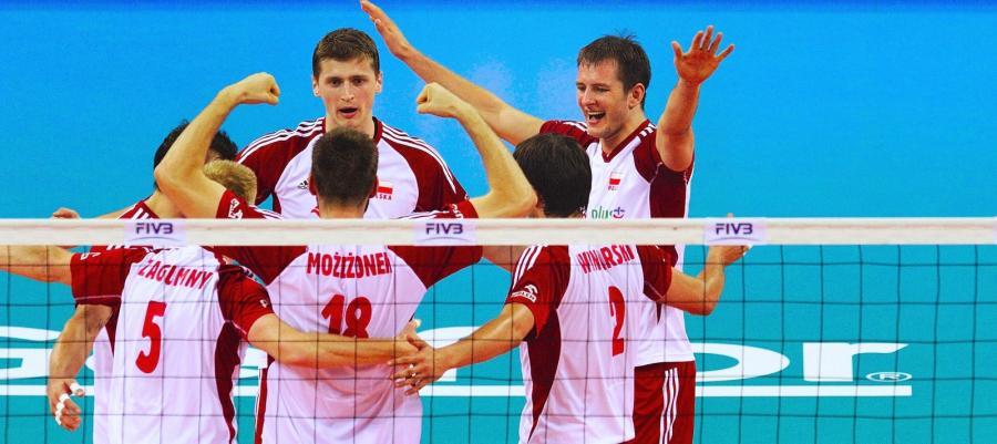 Polacy cieszą się po wygranym półfinale Ligi Światowej z Bułgarią 3:0
