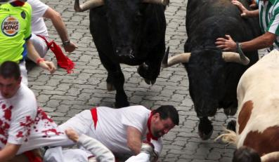 Bieg byków w Pampelunie