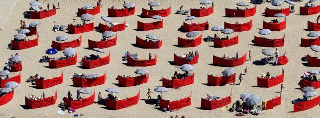 Plaża w Scheveningen w Holandii