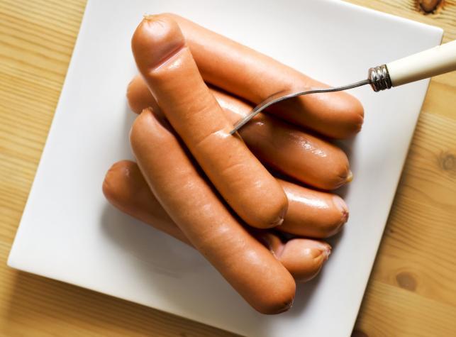 Parówki z mięsa