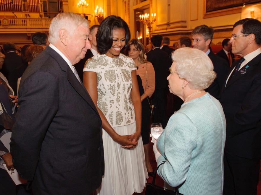 Michelle Obama na spotkaniu z królową Elżbietą II