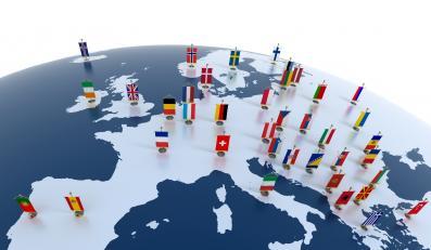 Mapa Europy - zdjęcie ilustracyjne